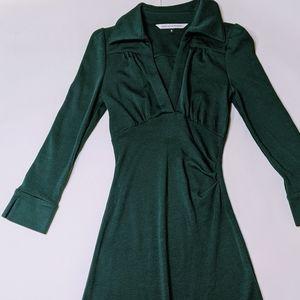 DVF Diane Von Furstenberg Long Sleeve Wool Dress